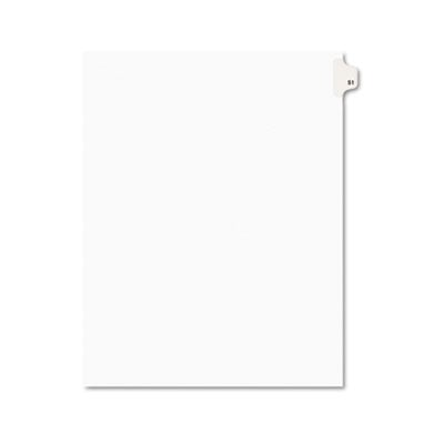 Avery 01051 Preprinted Legal Index Tab Dividers with Black and White Tabs