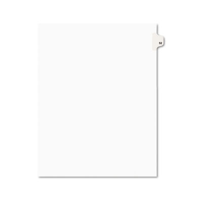 Avery 01052 Preprinted Legal Index Tab Dividers with Black and White Tabs