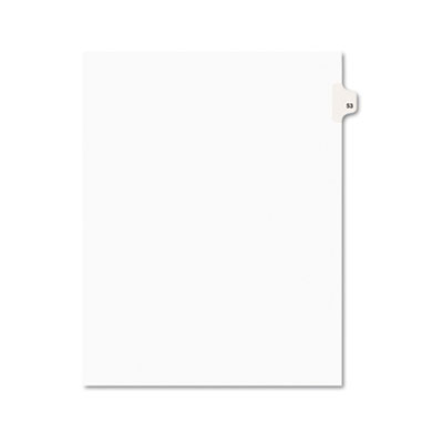 Avery 01053 Preprinted Legal Index Tab Dividers with Black and White Tabs