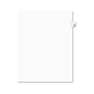 Avery 01054 Preprinted Legal Index Tab Dividers with Black and White Tabs