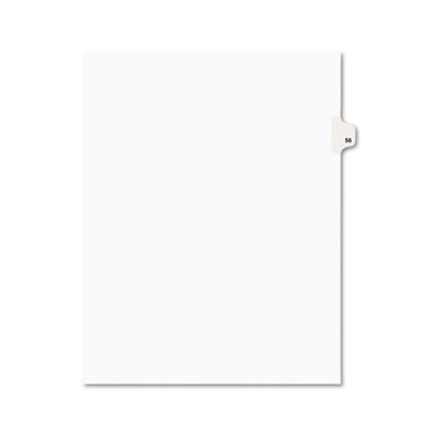 Avery 01056 Preprinted Legal Index Tab Dividers with Black and White Tabs