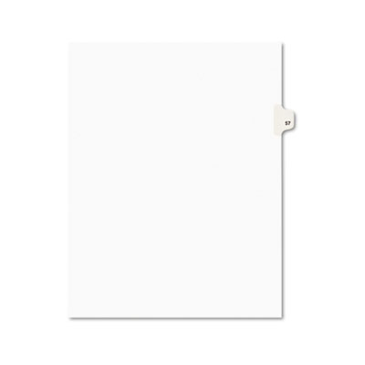 Avery 01057 Preprinted Legal Index Tab Dividers with Black and White Tabs