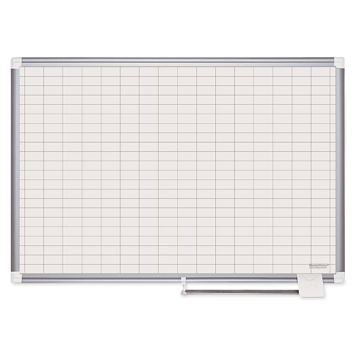 Bi-Silque Visual Communication Products CR0830830 MasterVision Grid Platinum Plus Magnetic Porcelain Dry Erase Board
