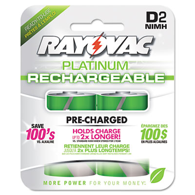Ray-O-Vac PL7132GENB Rayovac Recharge Plus NiMH Batteries