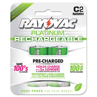 Ray-O-Vac PL7142GENB Rayovac Recharge Plus NiMH Batteries