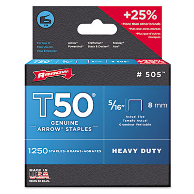 Arrow T50 Type Staples 505