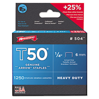 Arrow 504 T50 Heavy Duty Staples