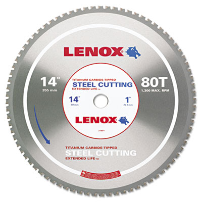 LENOX 21891 Steel-Cutting Circular Saw Blade