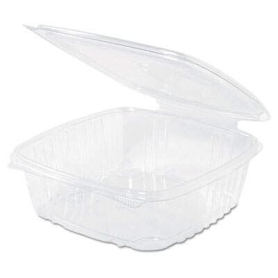 Plastic 7-1//4 x 6-2//5 x 2-1//4 GNPAD24 Clear Hinged Deli Container 100//Bag 24 oz