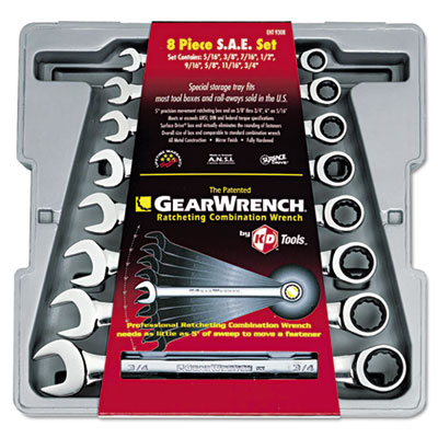 GearWrench 9308 Ratcheting-Box Combination Wrench