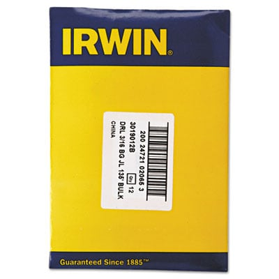 IRWIN Black and Gold HSS Fractional Drill Bit 3019012B