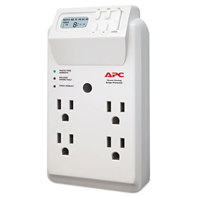 APC P4GC Power-Saving Timer Essential SurgeArrest Surge Protector