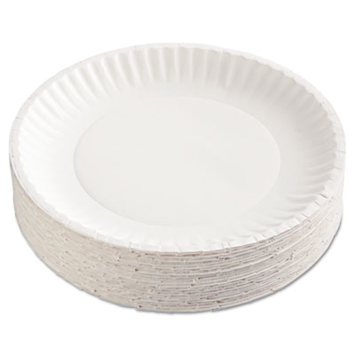 AJM CP9GOEWH Packaging Corporation Gold Label Coated Paper Plates