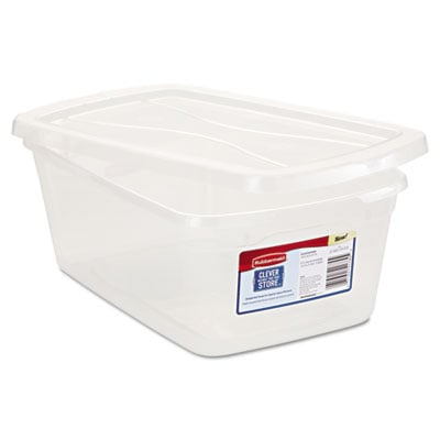 Rubbermaid 3Q31CLE Clever Store Snap-Lid Container