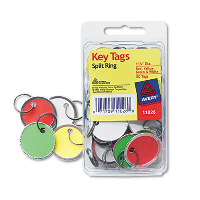 Avery 11026 Key Tags with Split Ring