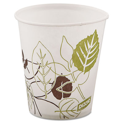 Dixie 58PATHPK Pathways Wax Treated Paper Cold Cups