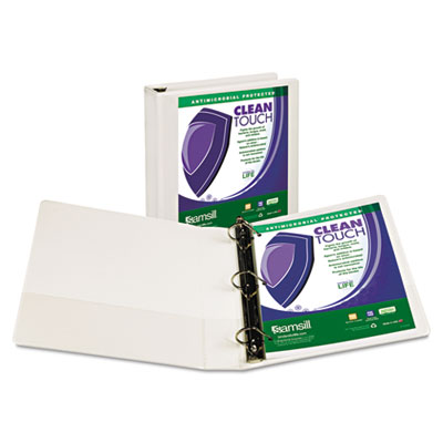 Samsill 16257 Clean Touch Heavy-Duty Locking D-Ring View Binder with Antimicrobial Protection