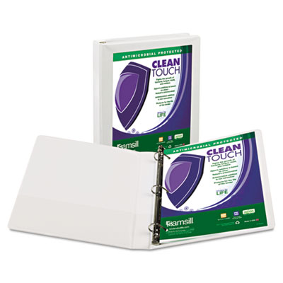 Samsill 16237 Clean Touch Heavy-Duty Locking D-Ring View Binder with Antimicrobial Protection