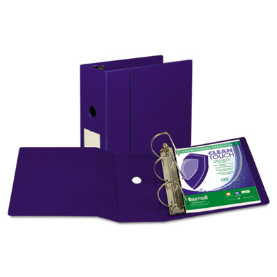 Samsill 16302 Clean Touch Heavy-Duty Locking D-Ring Antimicrobial Protected Reference Binder