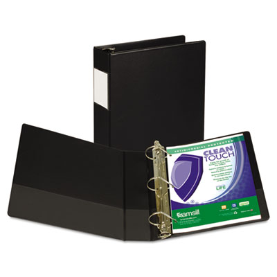 Samsill 16360 Clean Touch Heavy-Duty Locking D-Ring Antimicrobial Protected Reference Binder
