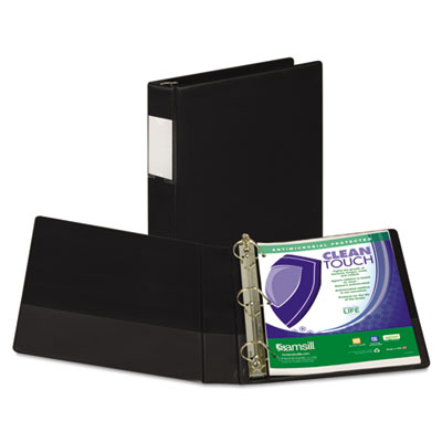 Samsill 16350 Clean Touch Heavy-Duty Locking D-Ring Antimicrobial Protected Reference Binder