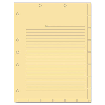 Tabbies 54519 Medical Chart Index Divider Sheets