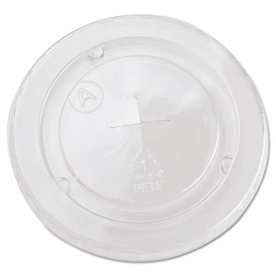 Boardwalk YLP20C Crystal-Clear Cold Cup Straw-Slot Lids
