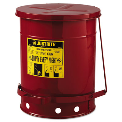 JUSTRITE Red Oily Waste Can 09300