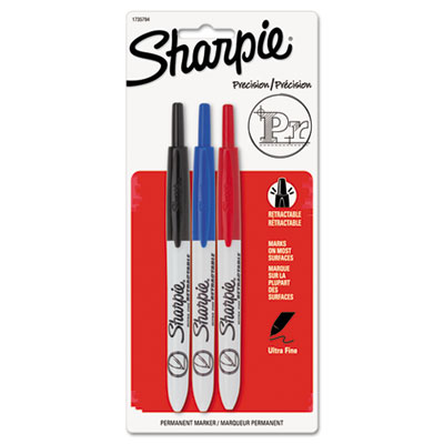 Sanford 1735794 Sharpie Retractable Ultra Fine Tip Permanent Marker