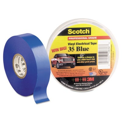 3M 10836 Scotch 35 Vinyl Electrical Color Coding Tape