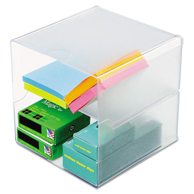 Deflecto 350701 deflect-o Stackable Cube Desktop Organizer