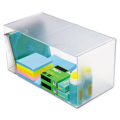 deflecto 350501 Stackable Cube Desktop Organizer