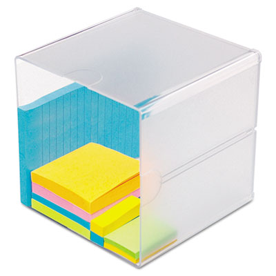 deflecto 350401 Stackable Cube Desktop Organizer