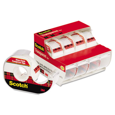 3M 4184 Scotch Transparent Tape In Handheld Dispenser