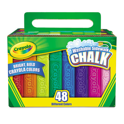 Binney &  Smith 512048 Crayola Washable Sidewalk Chalk