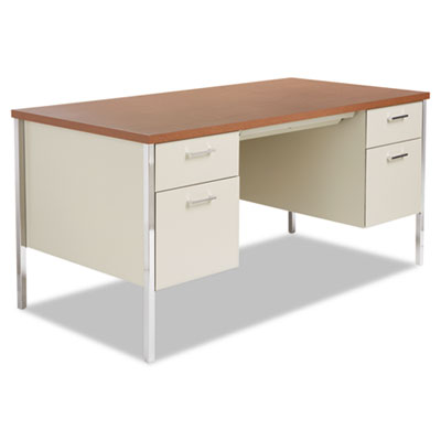 Alera Sd6030pc Double Pedestal Steel Desk