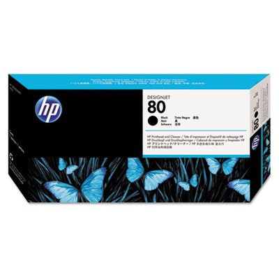 HP C4820A Black Printhead and Cleaner