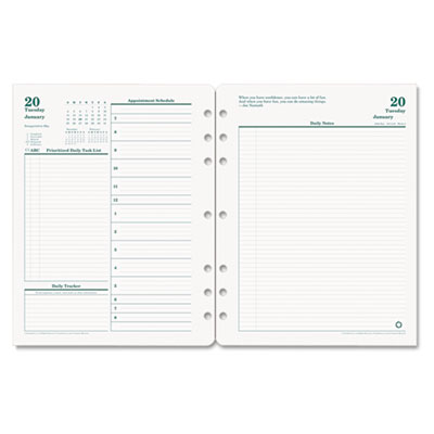 Franklin Covey 3542716 FranklinCovey Original Dated Two-Page-per-Day Planner Refill
