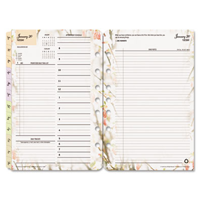 Franklin Covey 3544416 FranklinCovey Blooms Dated Daily Planner Refill