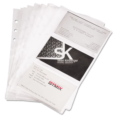 Samsill 81079 Refill Sheets for Business Card Binders