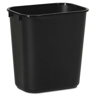 Boardwalk 14QTWBBLA Soft-Sided Wastebasket