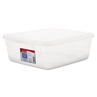 Rubbermaid 3Q24CLE Clever Store Snap-Lid Container