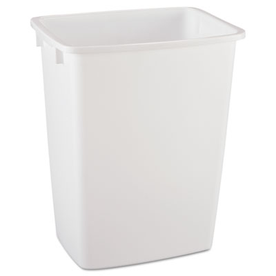 Rubbermaid 2806TPWHICT Open-Top Wastebasket