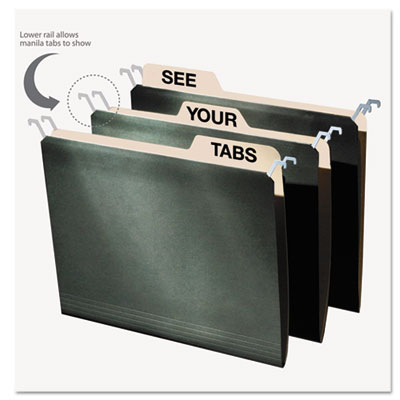 Snap-N-Store FT07033 find It Hanging File Folders with Innovative Top Rail