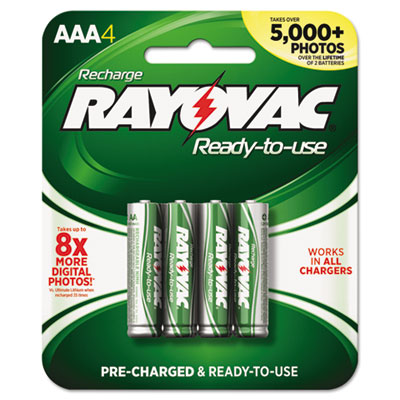 Ray-O-Vac PL7244B Rayovac Recharge Plus NiMH Batteries
