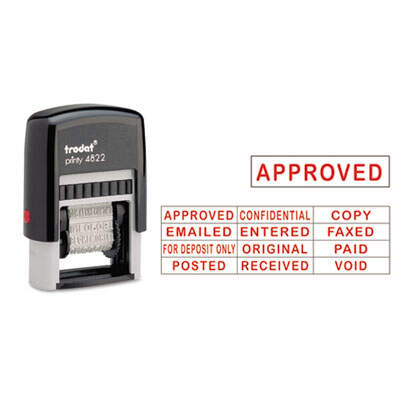 U. S. Stamp &  Sign E4822 Trodat  Self-Inking Stamps
