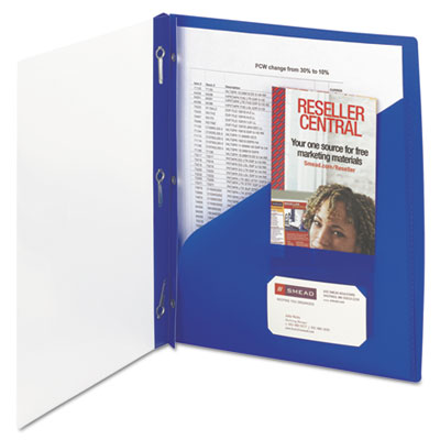 Smead 86011 Clear Front Poly Report Cover with Fasteners