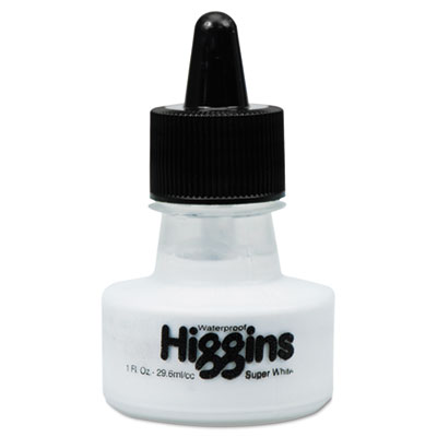 Stearns 44100 Higgins Super White Pigmented Drawing Ink