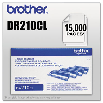 Brother DR210CL Yellow Drum Unit