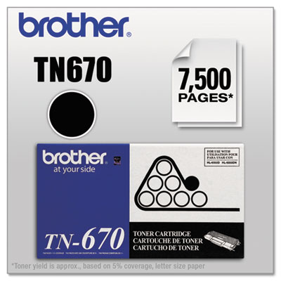 Brother TN670 Black Toner Cartridge